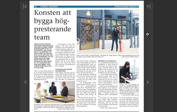 Pictures in the magazine bilder tidning Affärstidningen Näringsliv